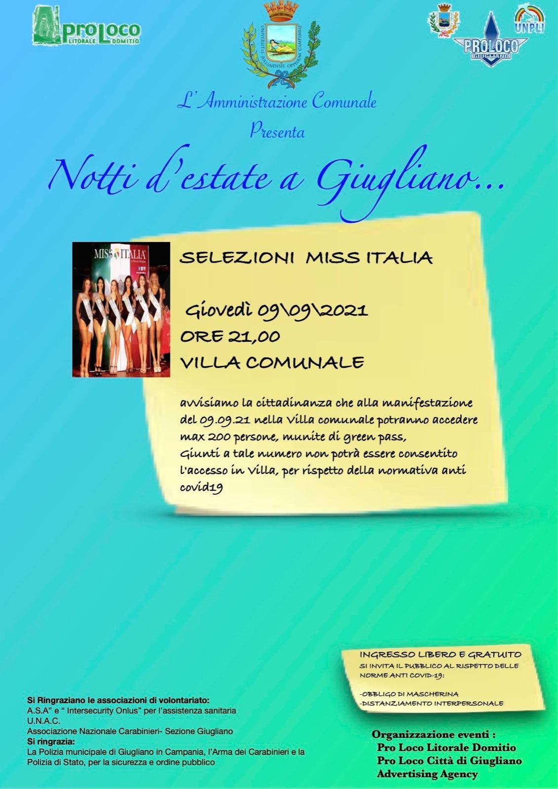 SELEZIONI MISS ITALIA A GIUGLIANO